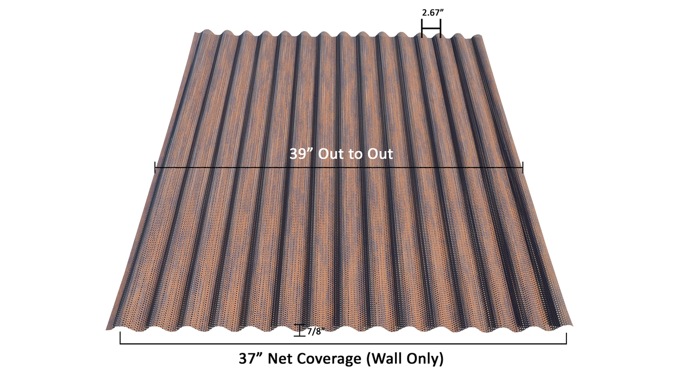 Perforated Corten 7/8 inch corrugated dimensions