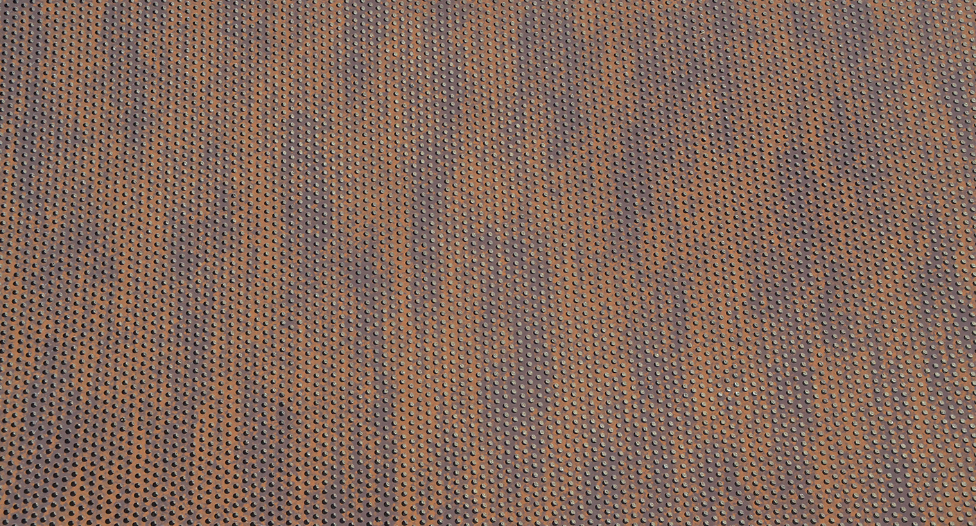 Perforated Corten flat sheets