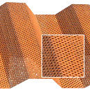 Perforated Corten Western Rib