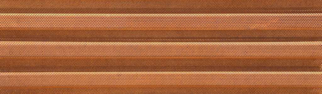 perforated corten western wave horizontal