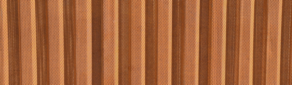 perforated corten western wave vertical
