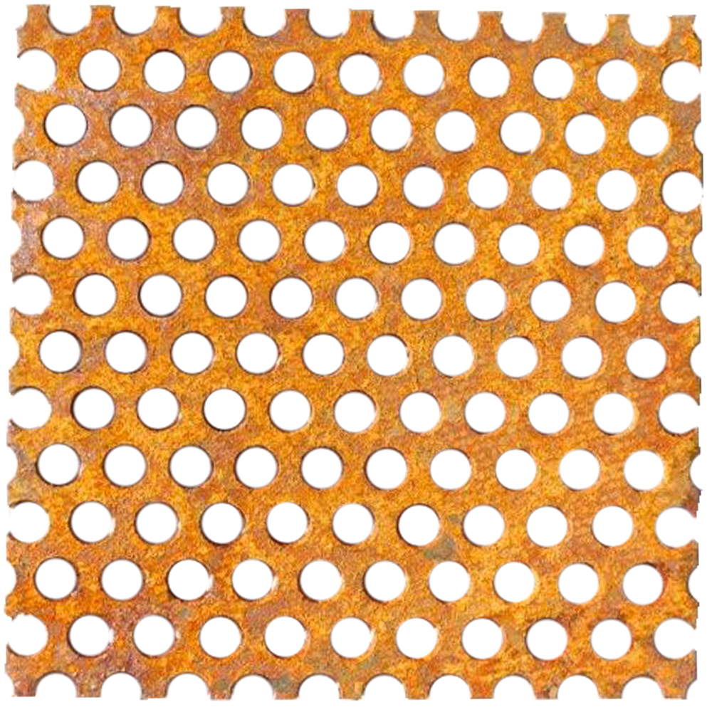 Perforated Corten Flat Sheets 11 Gauge