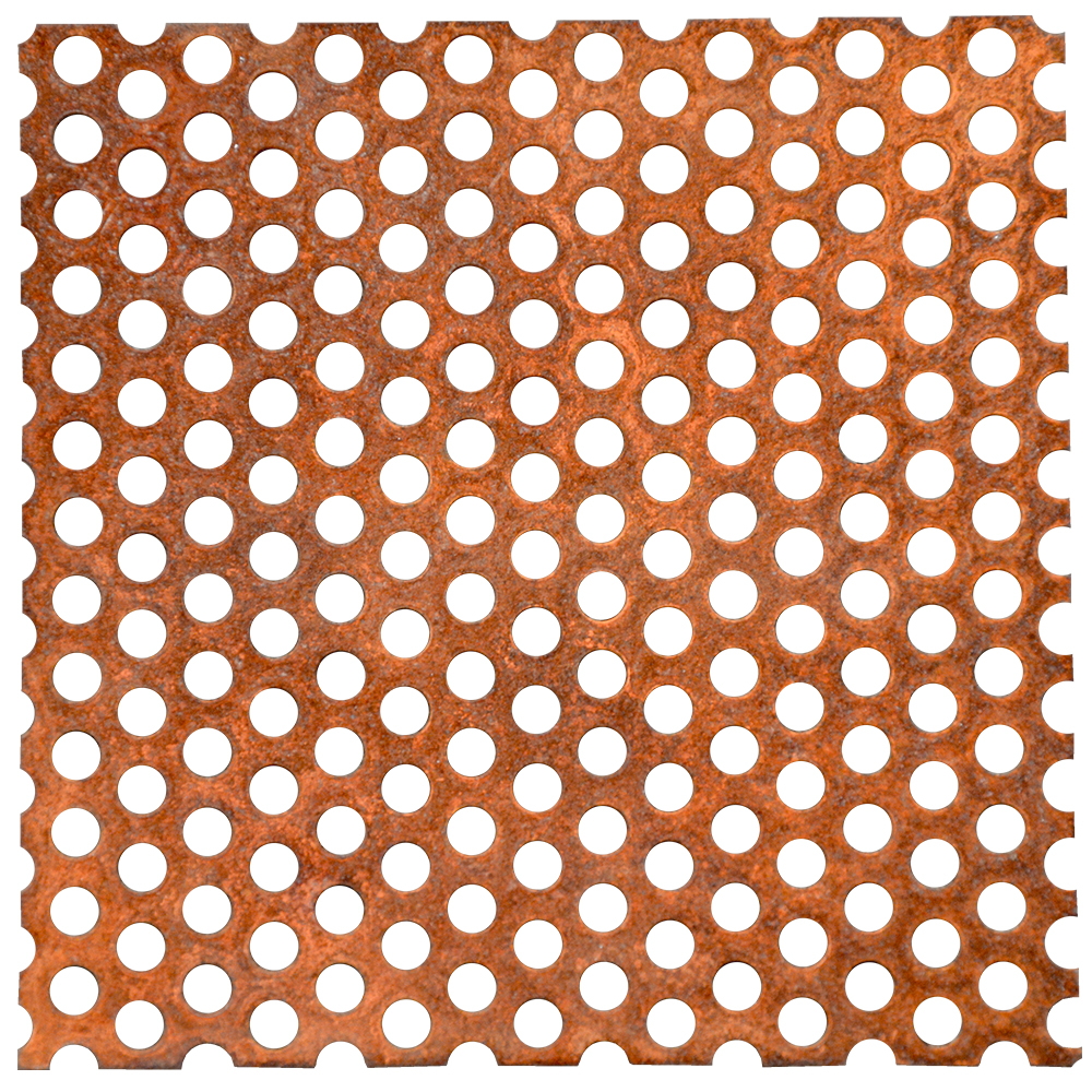 Perforated Corten Flat Sheets 16 Gauge